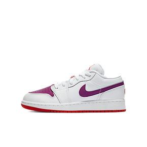 Air Jordan 1 Low GS AJ1白粉紫情人节女子低帮篮球鞋 554723-161