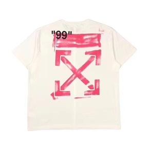 预售!Off-white 19ss 早春新款 白底粉色箭头 短袖