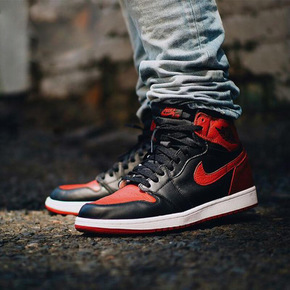 "Air Jordan 1 OG High ""Banned"" 禁穿配色 555088-001"