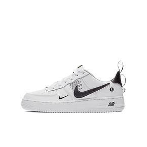 秒杀 ! Nike Air Force 1 AF1简版OW黑白解构女子板鞋 AR1708-100