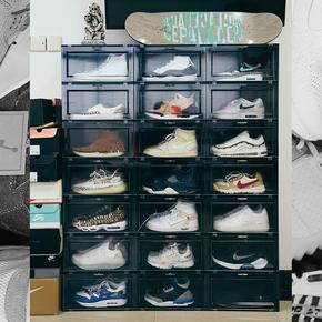 DBRukia 球鞋收纳盒 球鞋鞋盒 黑白鞋盒 鞋
