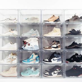 DBRukia透明球鞋收纳盒球鞋展示盒 球鞋防潮盒鞋墙透明鞋盒aj鞋盒