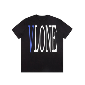 Vlone 亚洲Pop Up 限定短袖T恤 蓝V黑色
