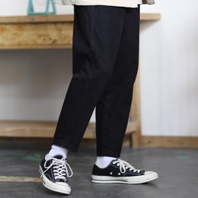 PSO Brand 19SS2 基础款纯色水洗直筒牛仔九分长裤