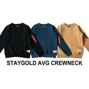 STAY GOLD AVG CREWNECK 飞虎队 MA1 飘带 三色 加绒卫衣