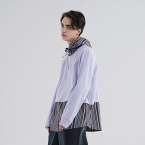 FMACM 2019SS 色系条纹拼接连帽卫衣