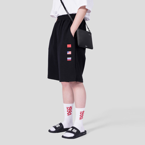 "FMACM 2018SS "" SANC"" 中美俄国旗针织短裤"