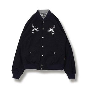 TCA THE CLOTHING ANIMAL 两面穿 2016秋冬季 横须贺刺绣/蛇皮纹双面夹克