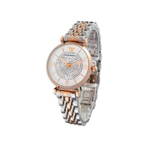阿瑪尼(EmporioArmani)滿天星手表 鋼制表帶 圓形石英女士手表