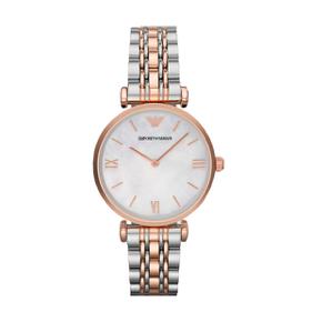 阿玛尼(Emporio Armani)手表钢制表带时尚休闲简约石英女士腕表
