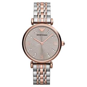 阿玛尼(Emporio Armani)手表钢制表带时尚休闲简约石英女士手表