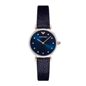 阿玛尼(Emporio Armani)手表皮质表带休闲时尚石英女士手表