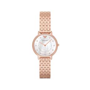 阿玛尼(Emporio Armani)手表 钢带潮流女士手表 休闲防水石英表