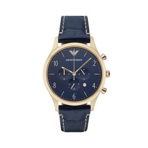 阿玛尼(Emporio Armani)手表 皮质表带男士经典时尚休闲石英腕表