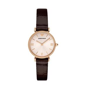 阿玛尼(Emporio Armani)手表 皮质表带经典时尚休闲石英女士腕表