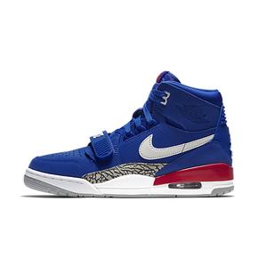 美国官网直发!Air Jordan Legacy AJ312 三合一杂活塞蓝白色篮球鞋 AV3922-416