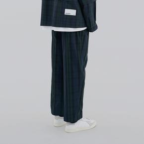 FMACM 2019SS 复合面料宽松格子九分裤