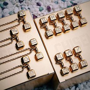CHISELED(麒司特)30毫米金色经典哑铃项链#十二星座系列