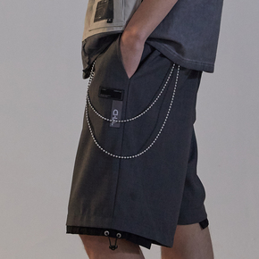 CHRROTA 可拆卸单层/双层金属裤链 装饰裤链潮流嘻哈男