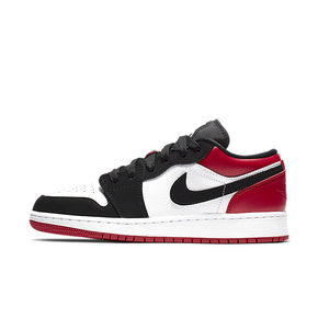 Air Jordan 1 Low GS AJ1低帮黑红黑脚趾篮球鞋553560-116