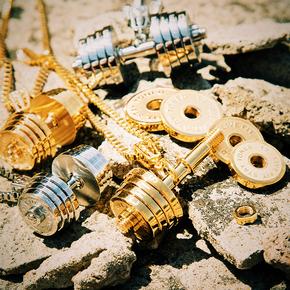 CHISELED(麒司特)钛钢组装哑铃项链(哑铃可拆卸)