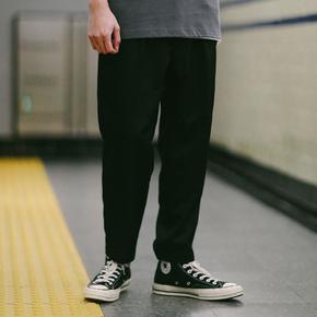 PSO Brand 19SS3 基础款休闲百搭黑色舒适西裤港风九分裤男