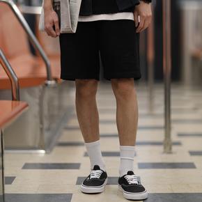 PSO Brand 19SS3 基础款纯色绣花舒适百搭针织休闲港风男女短裤