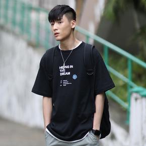 PSO Brand 19SS3 主题趣味标题四色纯棉短袖港风男女情侣圆领T恤
