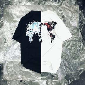 NL23HOOD 2019 World Tee 世界版图 流幕 黑白短袖