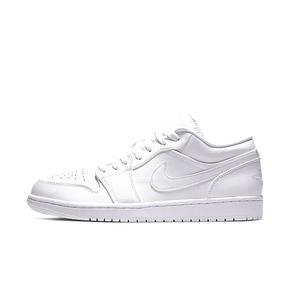 Air Jordan 1 Low AJ1低帮 纯白男子篮球鞋 553558-112