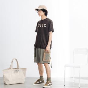 OITC 19SS 军绿色撞色8口袋短裤