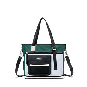 OMTO 女包手提包大容量潮流撞色女士休闲百搭手拎包肩包