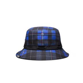 OMTO 街头女式帽子潮流百搭嘻哈格子渔夫帽遮阳帽
