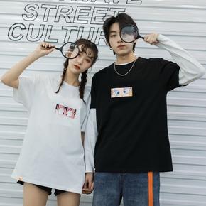 Cosbank联名七龙珠悟空卡通Tee潮牌春夏ins潮流男女情侣装短袖T恤