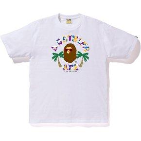 BAPE 洛杉矶限定 迷彩小猿人头T恤