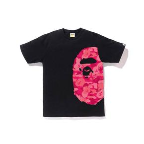 BAPE 侧面火焰迷彩大猿人头T恤