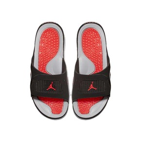 Air Jordan IV AJ4 黑红魔术贴 运动拖鞋 532225-006