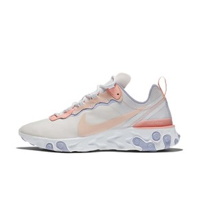 NIKE REACT ELEMENT 55跑步鞋耐克女子跑鞋 樱花粉BQ2728-601
