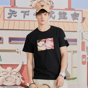 GZKHCOM七龙珠短袖休闲潮流情侣男女 卡通国潮布偶贝吉塔粉色夏季