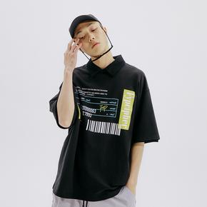 FLAM 嘻哈潮牌国潮 FYP 药盒印花情侣宽松短袖T恤男