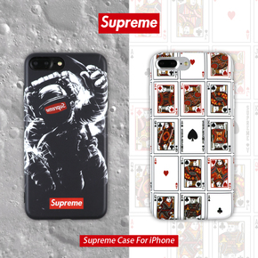【定制】Supreme NASA/扑克牌 软硅胶手机壳 for iPhone6/7/PLUS