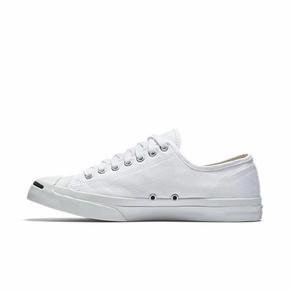 Converse开口笑经典黑白皮帆布鞋男女低帮 1Q698