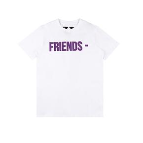 Vlone 亚洲Pop Up 限定短袖T恤 紫标语白色