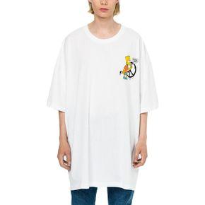 OFF-WHITE C/O VIRGIL ABLOH 辛普森反战箭头短袖T恤(OS版型)