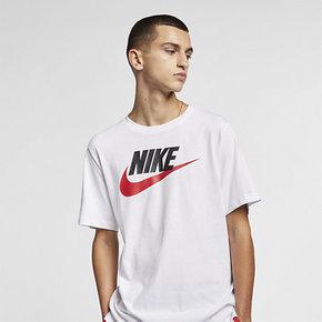 NIKE耐克男装夏季新款休闲运动透气LOGO短袖T恤AR5005-100