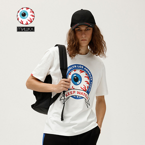 Mishka大眼球基本短袖印花T恤mishkanyc 春夏新款