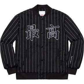 Supreme 19春夏Pinstripe Vasity Jacket
