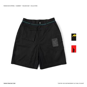 "FMACM 2019SS"" Golden boy ""透明窗口设计短裤宽松休闲五分裤"
