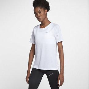 NIKE DRI-FITTAILWIND女子跑步训练健身短袖T恤890192-100