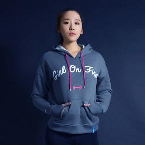 Monster Guardians MG女子健身运动卫衣灰色套头衫 姿意系列 (21)251550 B08003